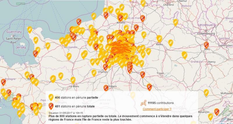 Pénurie de carburant : l'Île-de-France toujours très touchée