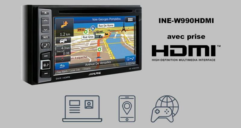 Alpine présente un nouvelle version du célèbre INE-W990BT