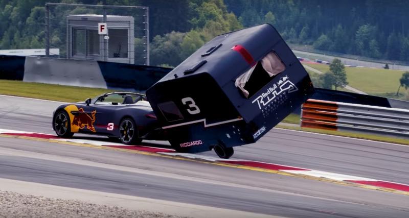 F1 : Les pilotes Red Bull s'affrontent dans une folle course de caravanes