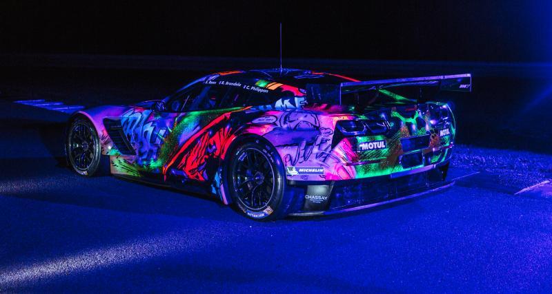 Une Chevrolet Corvette C7R fluorescente pour les 24 Heures du Mans 2017