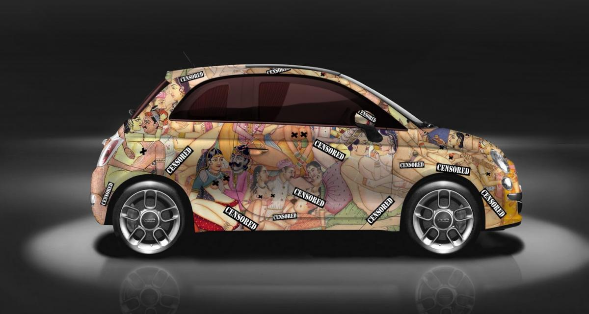La Fiat 500 devient une fresque célébrant le kamasutra