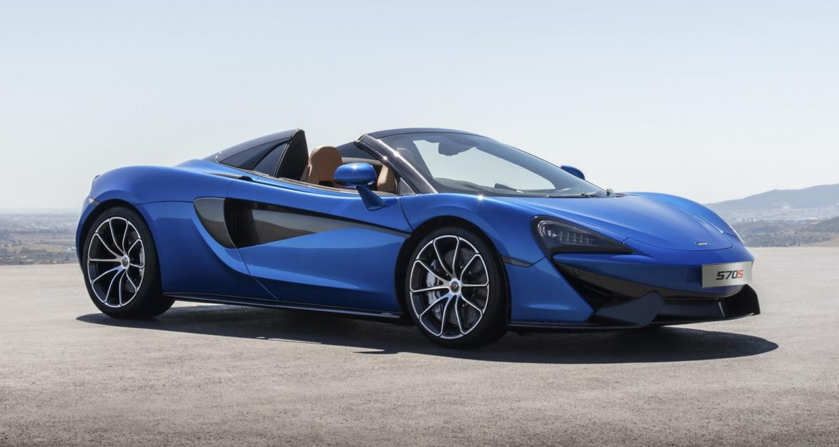 La McLaren 570S reçoit sa version Spider