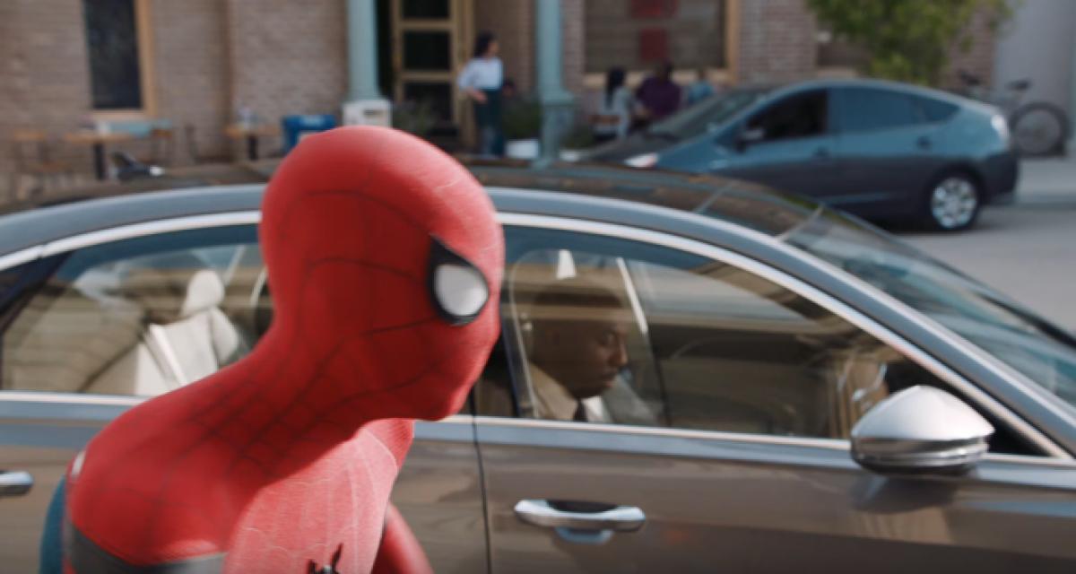 Spiderman passe son permis avec la nouvelle Audi A8