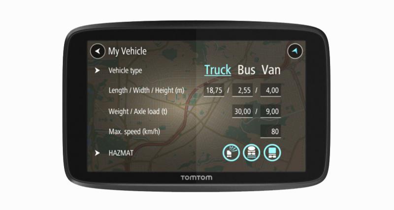 TomTom présente une nouvelle gamme de GPS pour les professionnels utilisant des gros véhicules