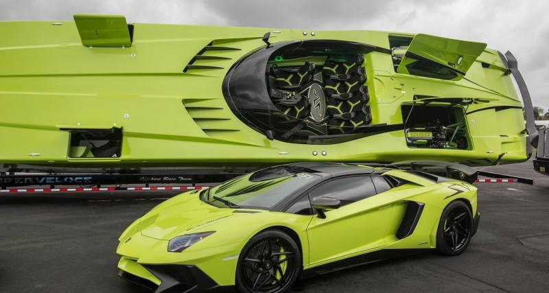 Achetez cette Lamborghini Aventador SV et obtenez un hors-bord assorti