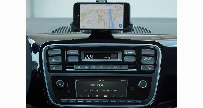 La Skoda Citigo utilise un nouvel autoradio utilisant le Smartphone comme GPS