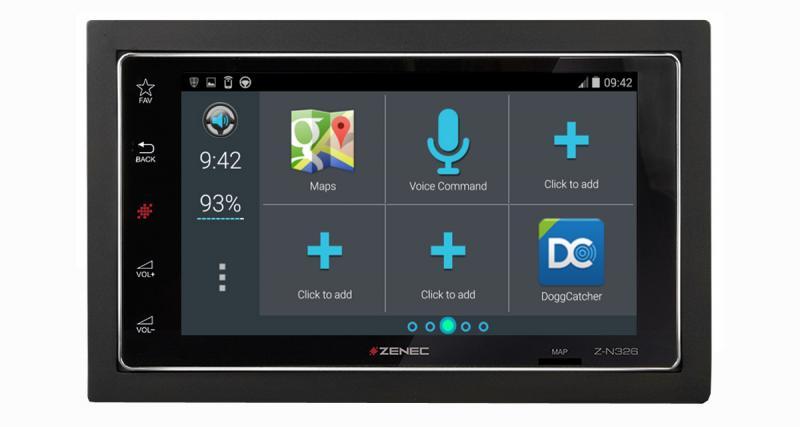 Zenec Z-N326 : le choix du navigateur et le contrôle d'applications Android