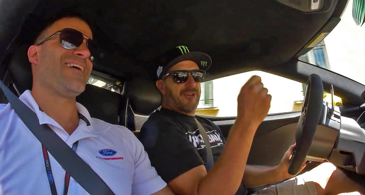 Ken Block essaie la Ford GT en France