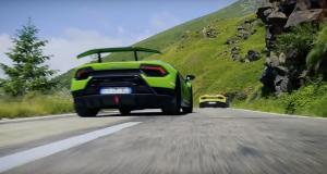 C'est l'histoire de six Lamborghini qui vont en vacances en Roumanie...
