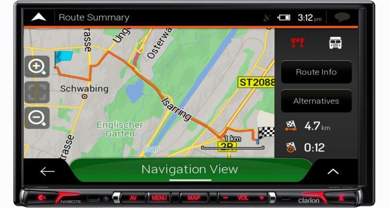 Clarion dévoile un autoradio GPS CarPlay spécifique camping-cars