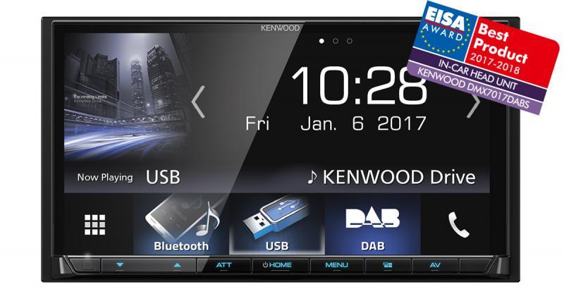 Le DMX7017DABS de Kenwood reçoit un prix à l'Eisa 2017-2018