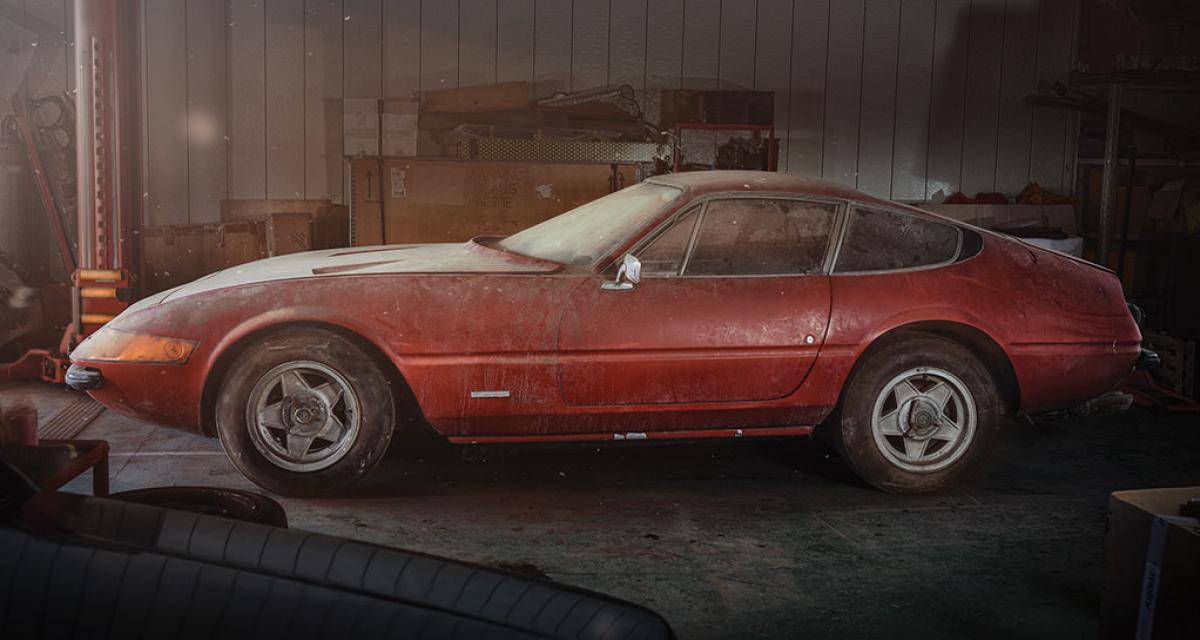 Une Ferrari Daytona unique dormait dans une grange depuis près de 40 ans