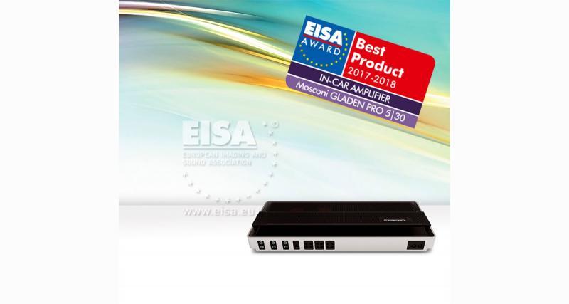 Mosconi primé à l'Eisa 2017-2018 pour son ampli 5 canaux Gladen Pro 5/30