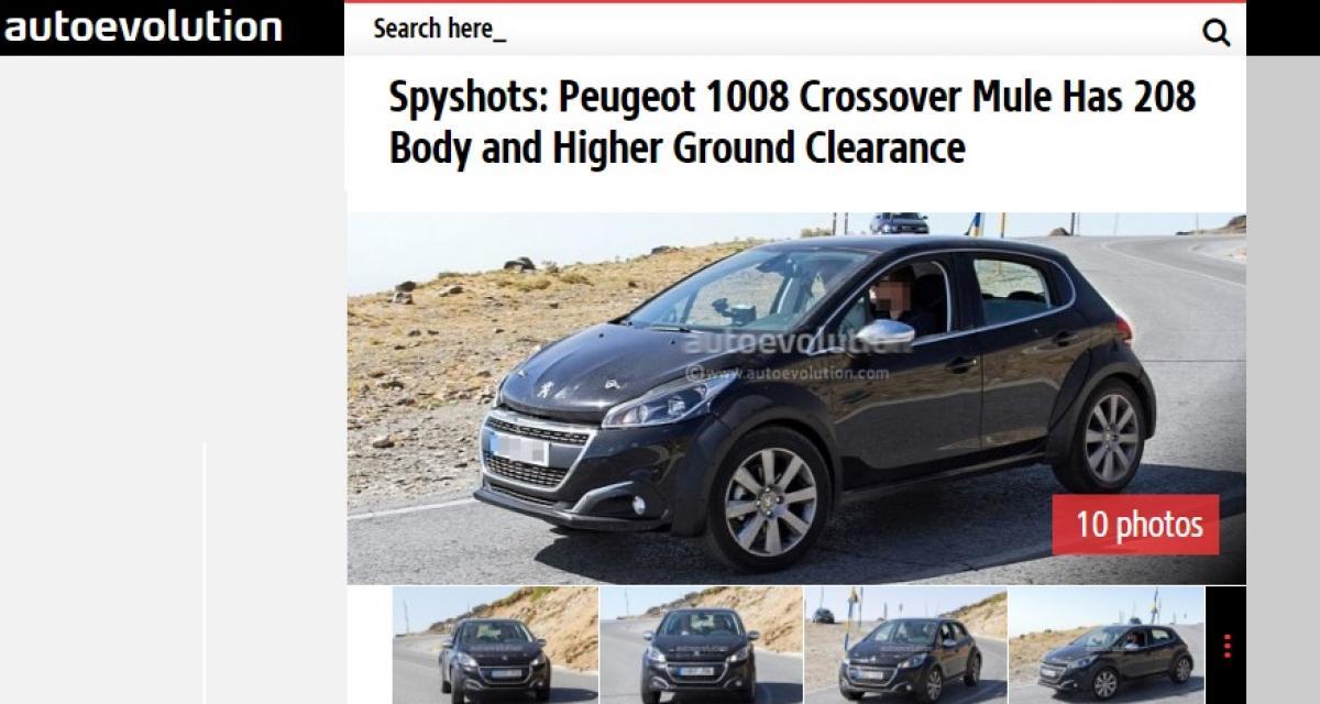 Mais que cache donc cet étrange prototype de Peugeot 208 ?