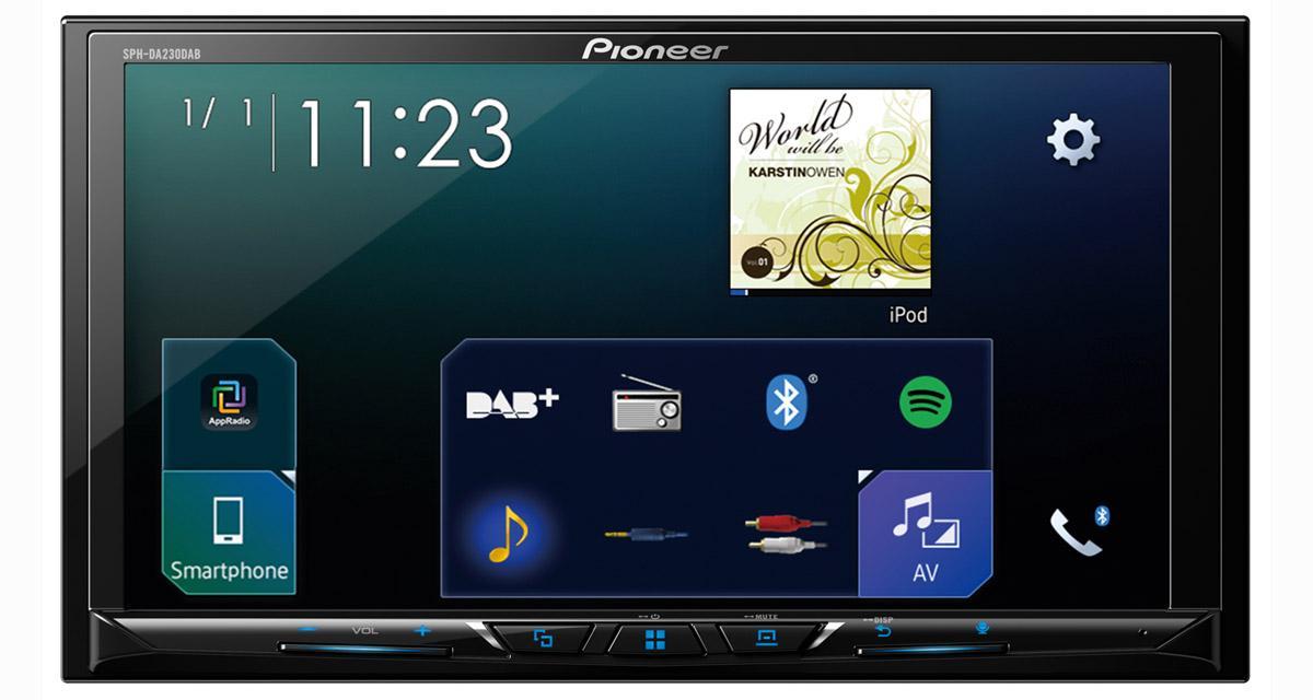 Pioneer dévoile un nouvel autoradio multimédia connecté dédié aux Smartphones