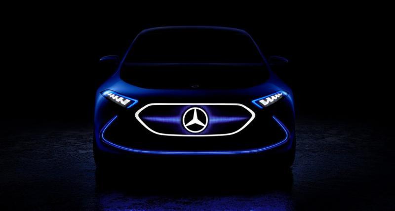 Un aperçu de la future Mercedes Classe A électrique au salon de Francfort