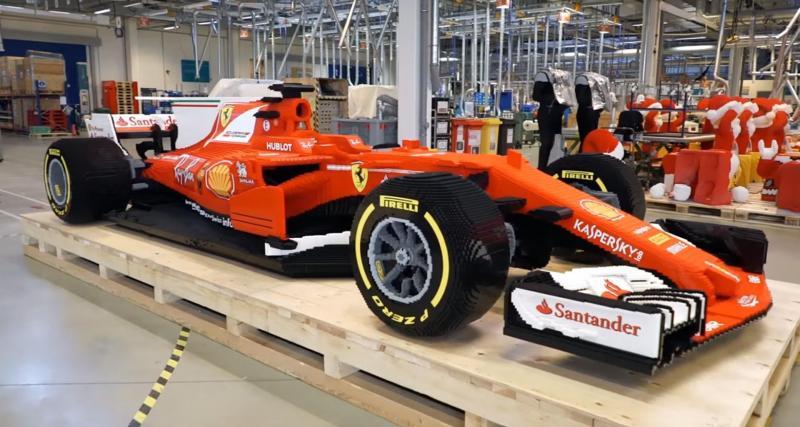 Lego recrée la Ferrari F1 2017 à taille réelle