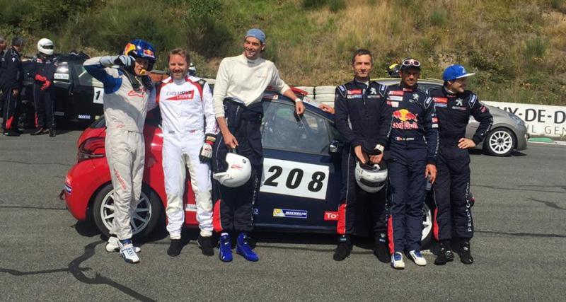 Camille Lacourt et Renaud Lavillenie s'essayent à la Peugeot 208 Cup