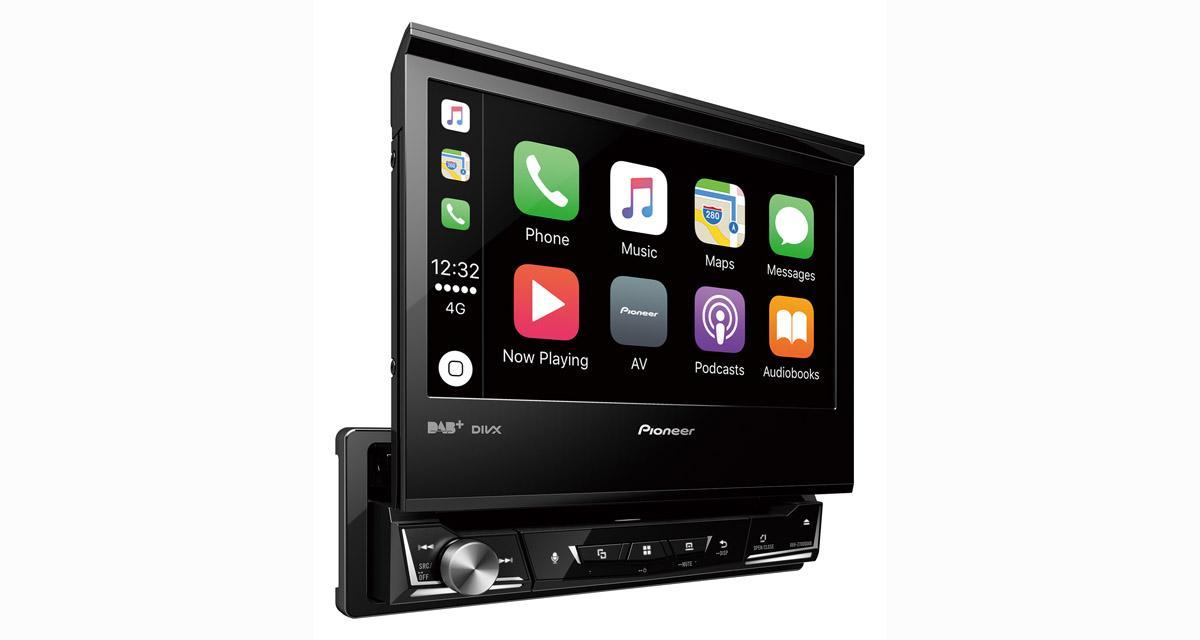 Pioneer commercialise un autoradio 1 Din avec écran 7 pouces et CarPlay