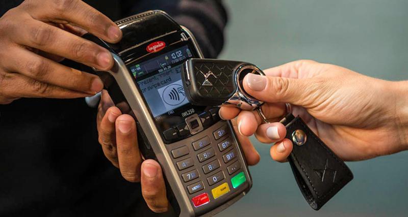 La clé de la DS 3 se transforme en carte bancaire sans contact