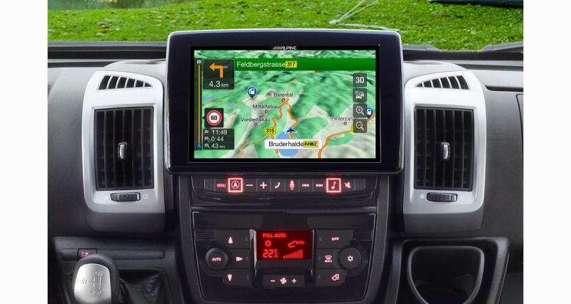 Alpine Electronics commercialise un nouvel autoradio GPS high-tech pour les camping-cars Fiat Ducato