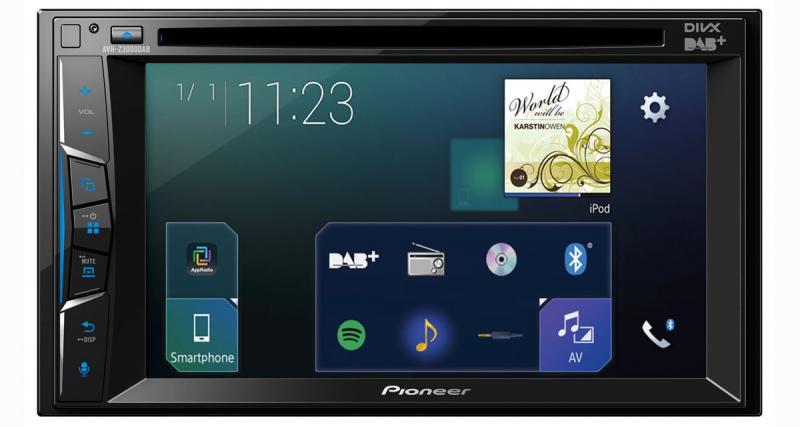 Pioneer dévoile un nouvel autoradio vidéo avec connexion Smartphone