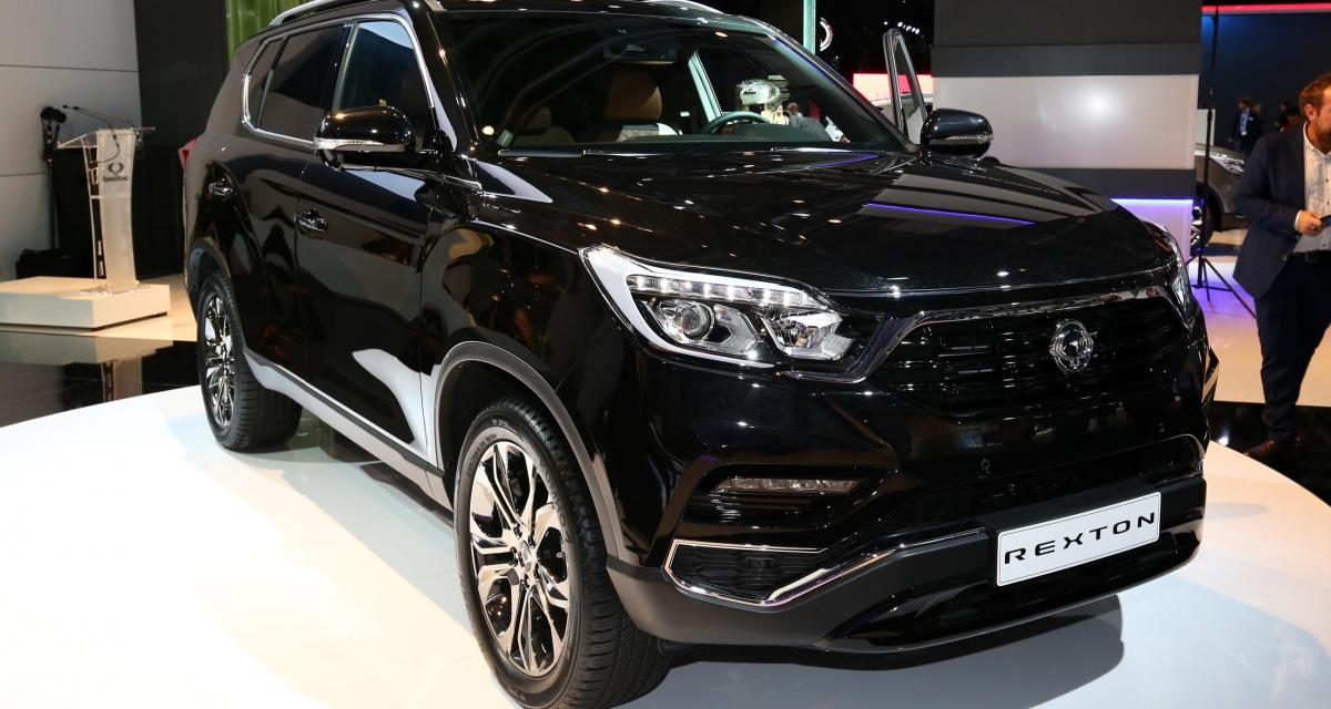 salon de francfort 2017 ssangyong rexton 2018. Black Bedroom Furniture Sets. Home Design Ideas
