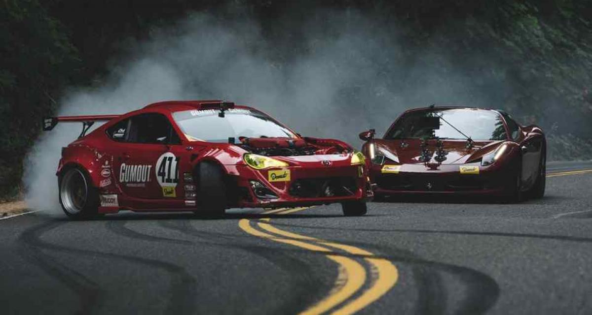 Grosse frayeur pour cette Toyota GT86 à moteur Ferrari