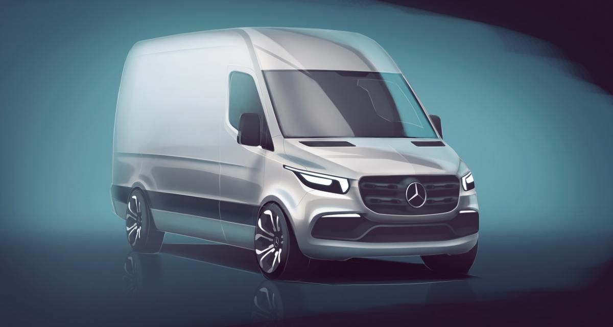 Première image pour le nouveau Mercedes Sprinter