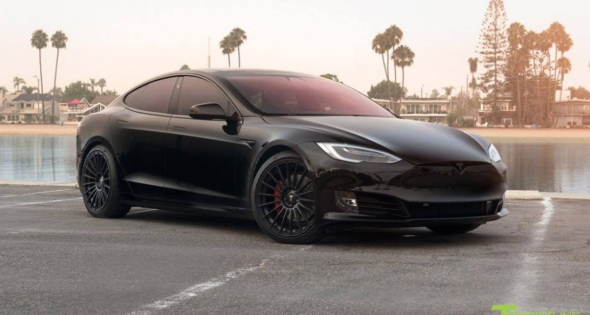 tesla model s p100d t sportline chasseur furtif. Black Bedroom Furniture Sets. Home Design Ideas