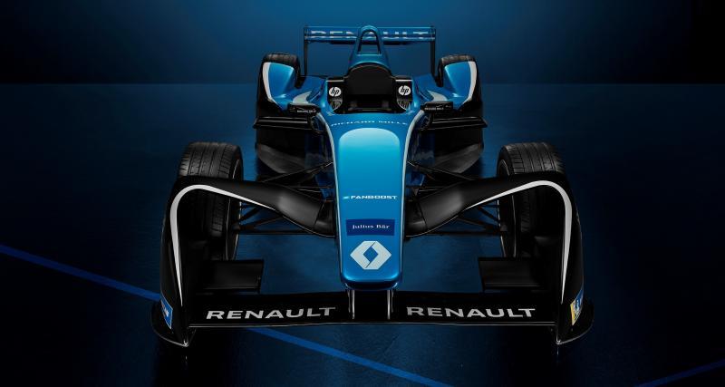 Renault e.dams en bleu et blanc pour la saison 2017-2018 de Formule E