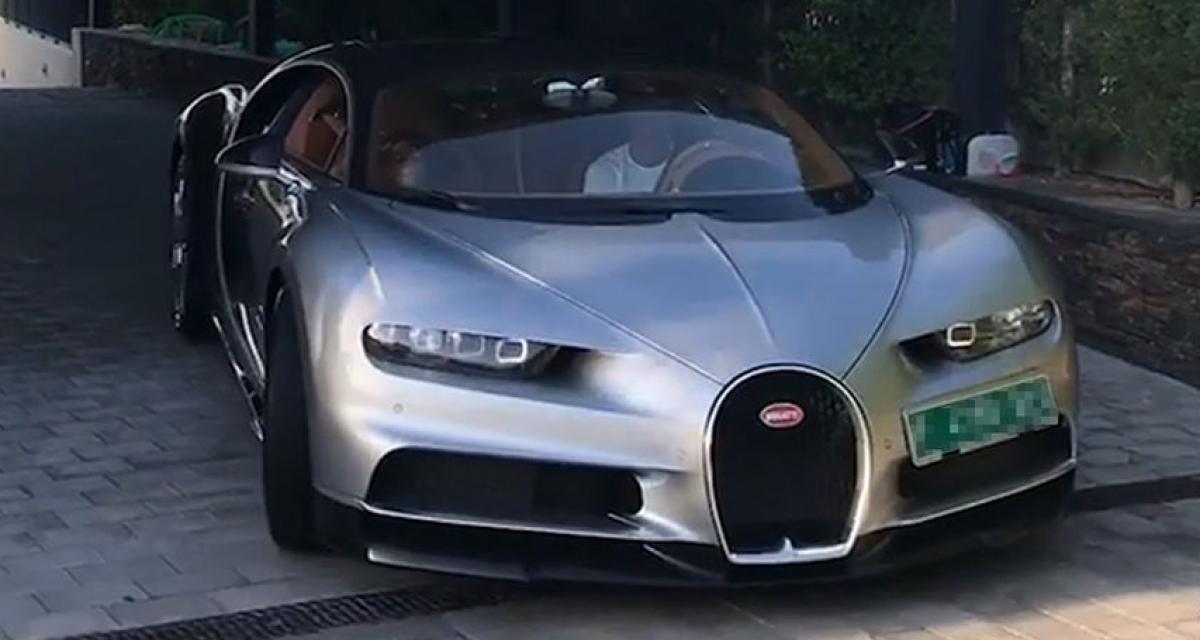 Cristiano Ronaldo a reçu sa Bugatti Chiron