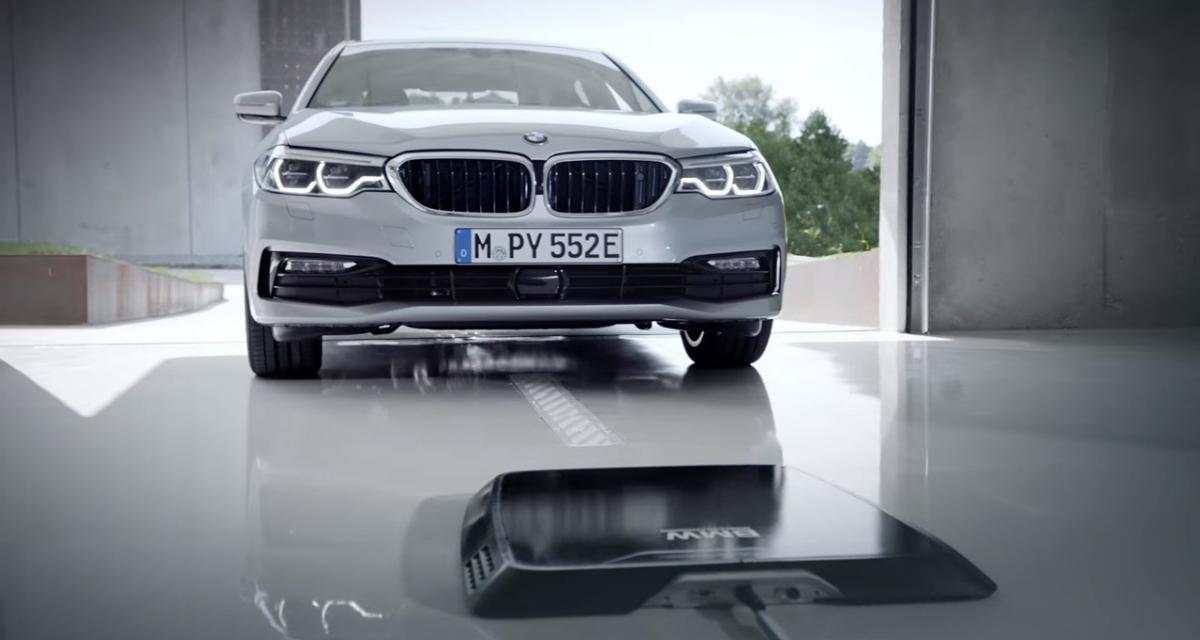 BMW détaille son système de recharge sans fil