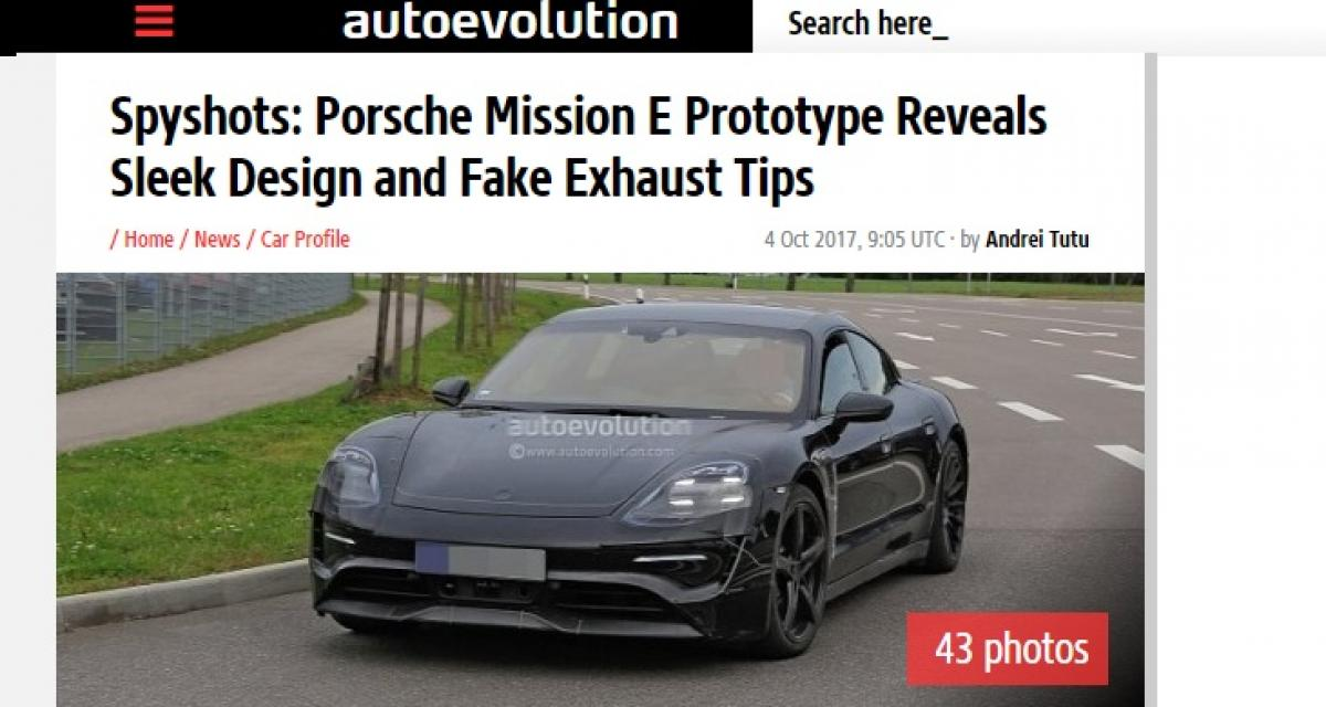 La Porsche Mission E de production se montre