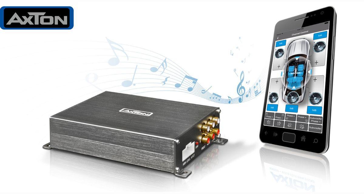 Axton commercialise un nouvel ampli 4 canaux avec DSP pilotable par un Smartphone