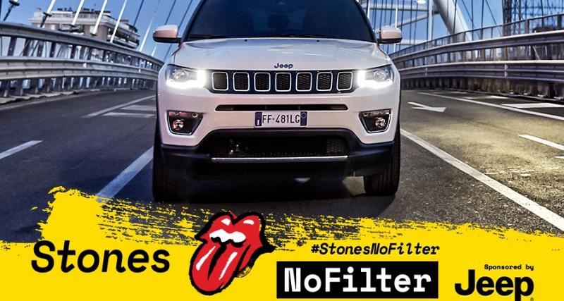 Le Jeep Compass en guest-star des concerts français des Rolling Stones