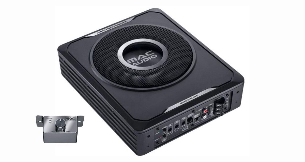 Mac Audio présente un caisson extraplat pour renforcer le grave d'une petite installation hi-fi