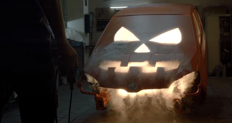 La Skoda Citigo se transforme en citrouille pour Halloween