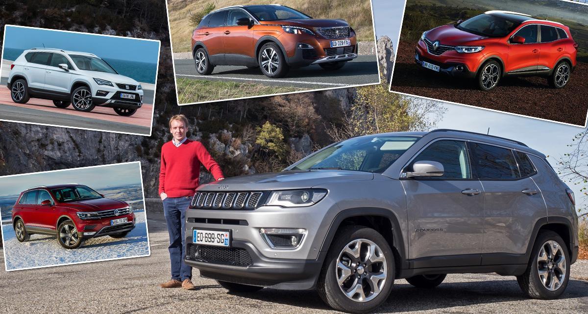 Guide d'achat: le nouveau Jeep Compass face à ses concurrents