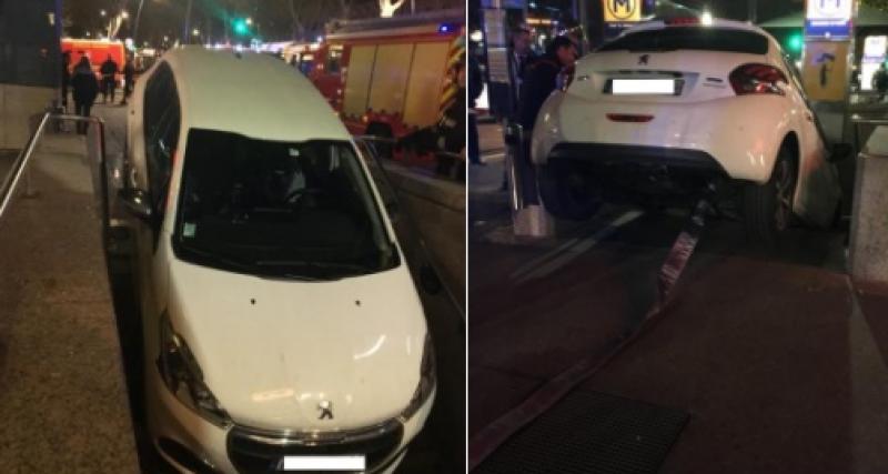 Toulouse : une conductrice s'engouffre dans une bouche de métro