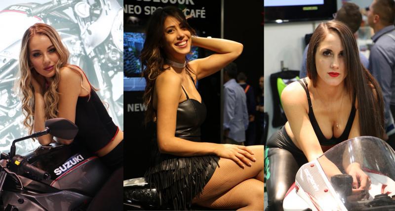 Salon EICMA de Milan: des motos et surtout des filles !
