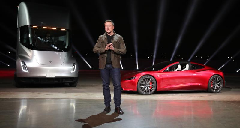 La Tesla Roadster II aussi de la partie