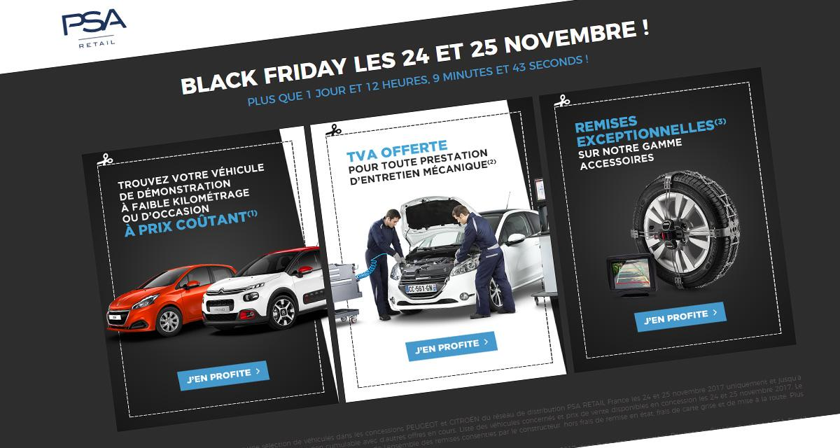 les promos automobiles du black friday. Black Bedroom Furniture Sets. Home Design Ideas