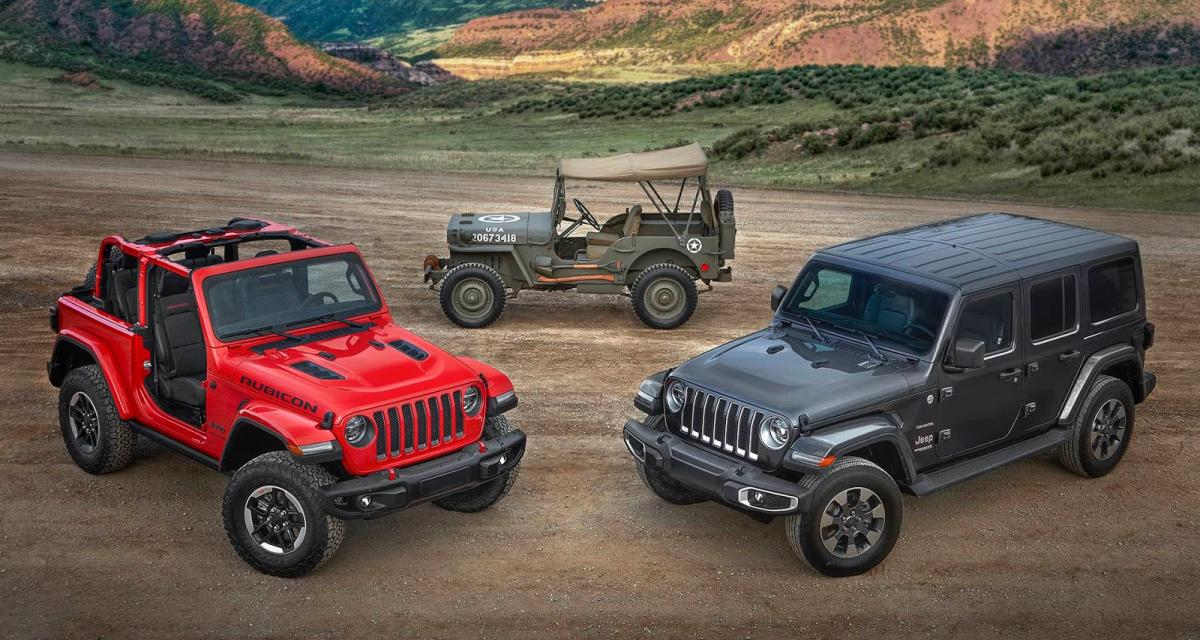nouveau jeep wrangler hybridation et r gime au programme. Black Bedroom Furniture Sets. Home Design Ideas