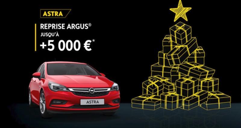 Opel Astra : +5 000 euros sur la reprise Argus jusqu'au 31 décembre