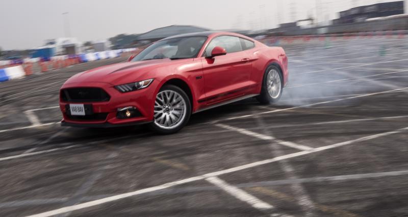 On a joué avec une vraie star de cinéma : la Mustang