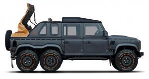 Kahn Design crée le 6x6 cabriolet sur base de Land Rover Defender