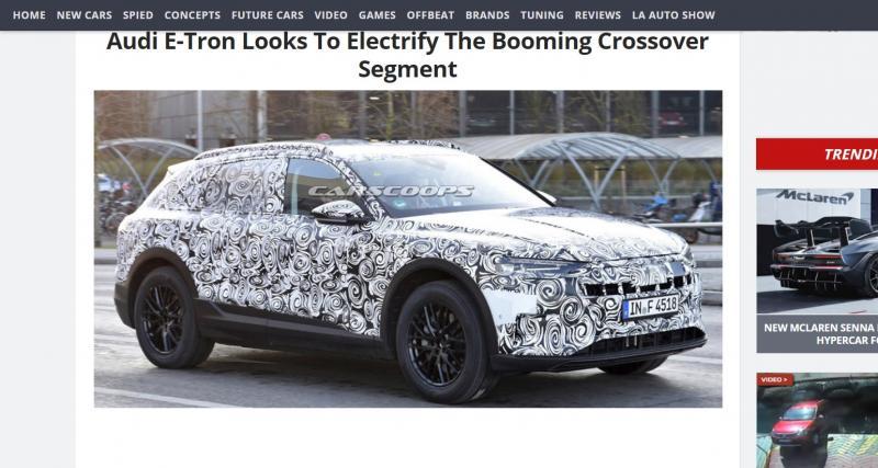 Le SUV Audi E-Tron de série est de sortie