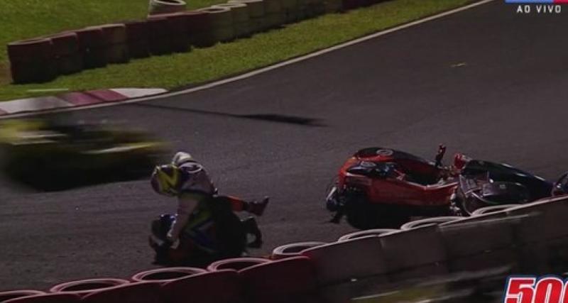 Coups de poing et étranglement pour une triste bagarre survenue durant une course de karting