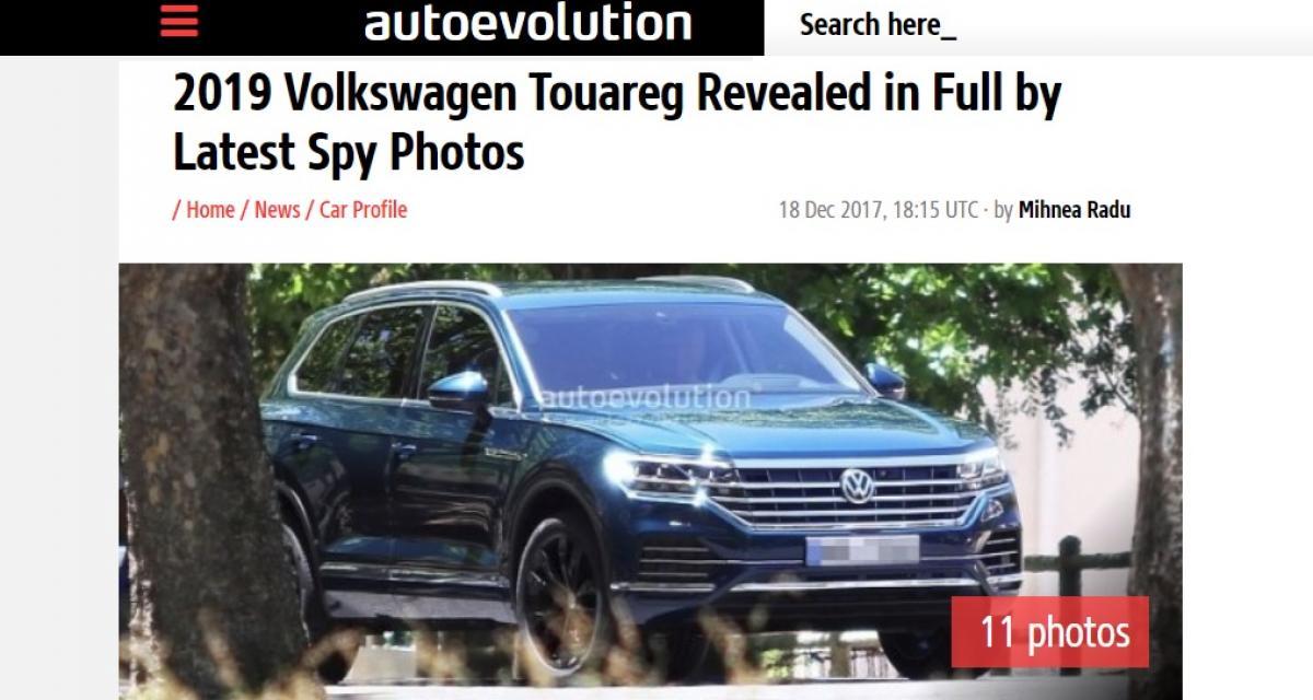 Le futur Volkswagen Touareg surpris sans camouflage